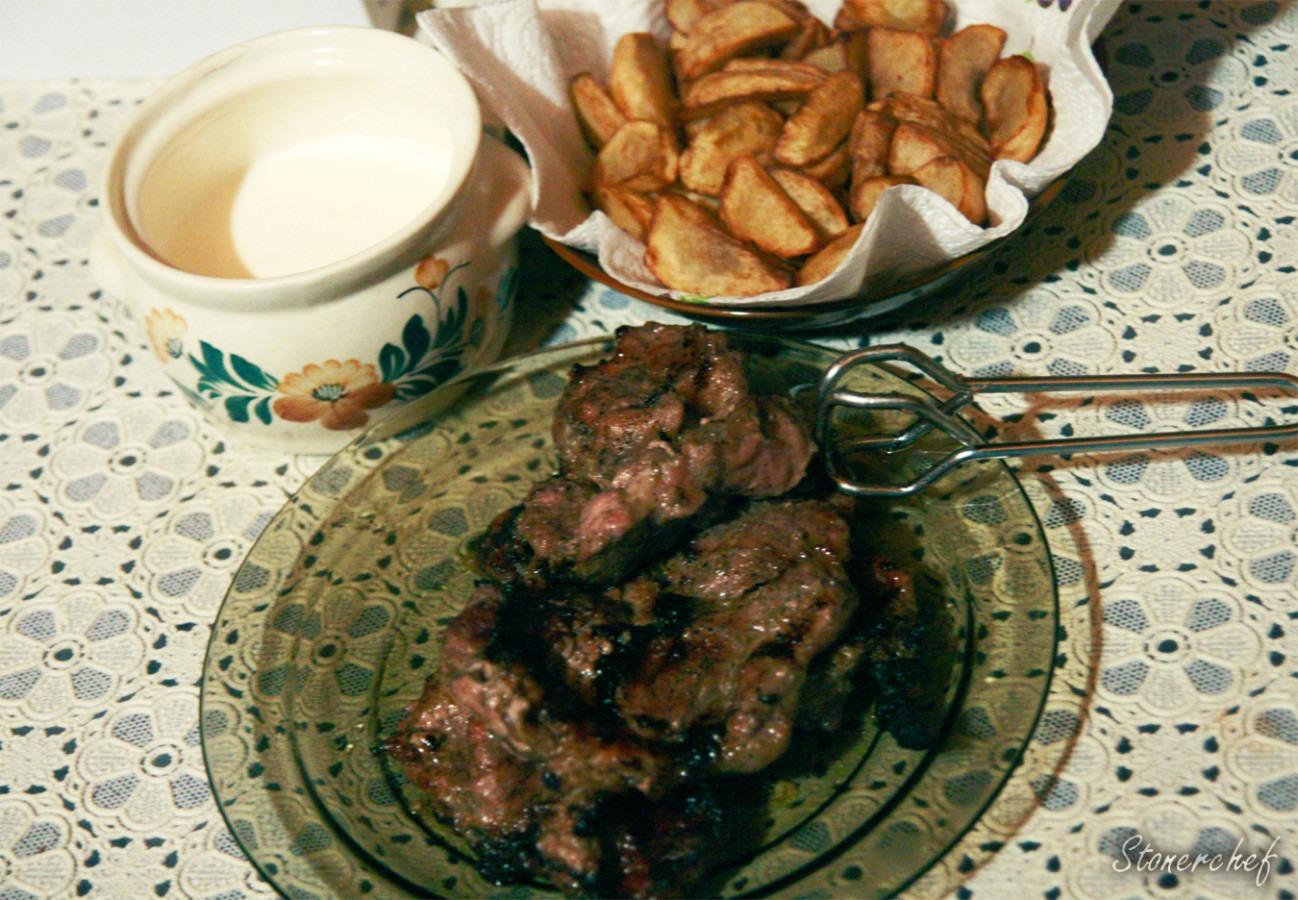 Karkówka z grilla w kminku i czosnku
