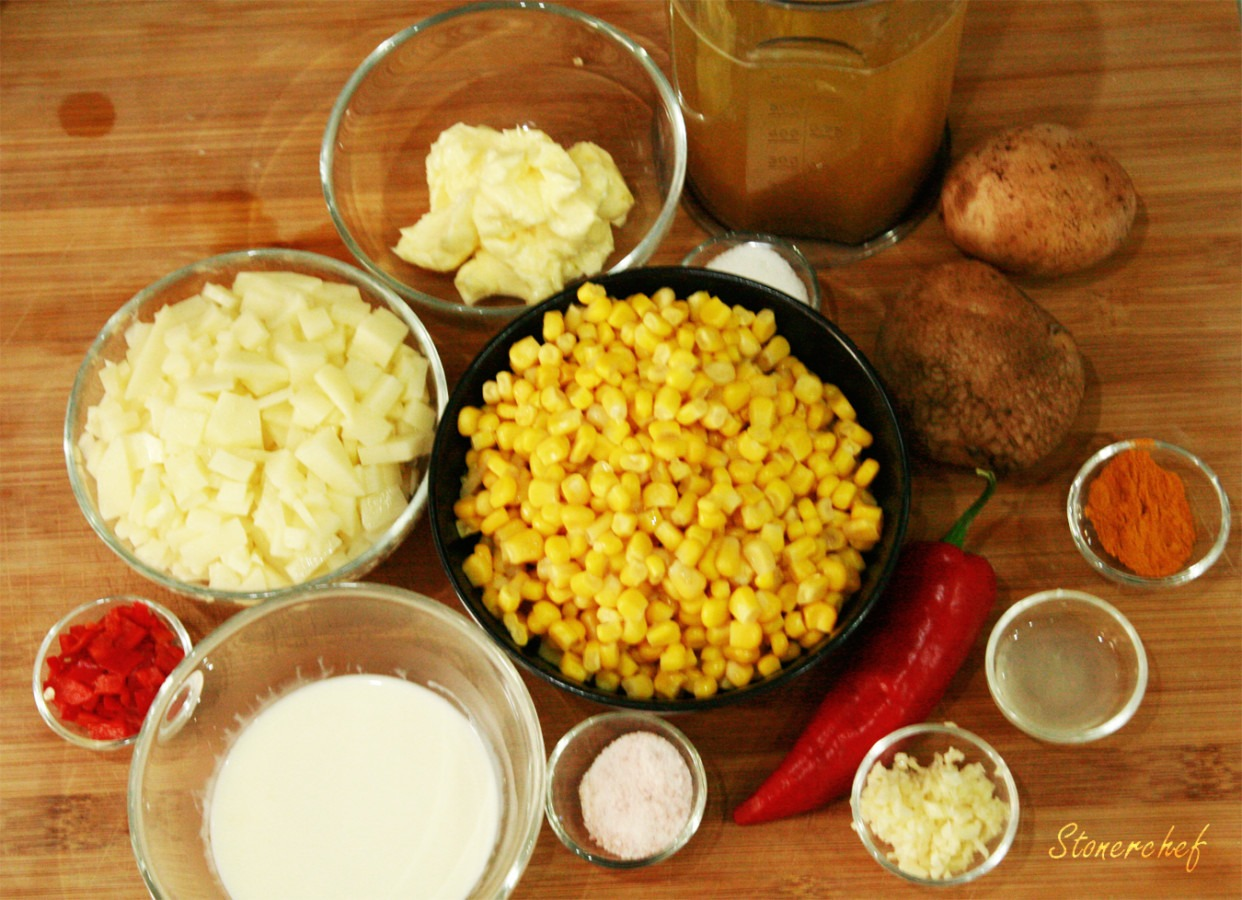 krem z kukurydzy