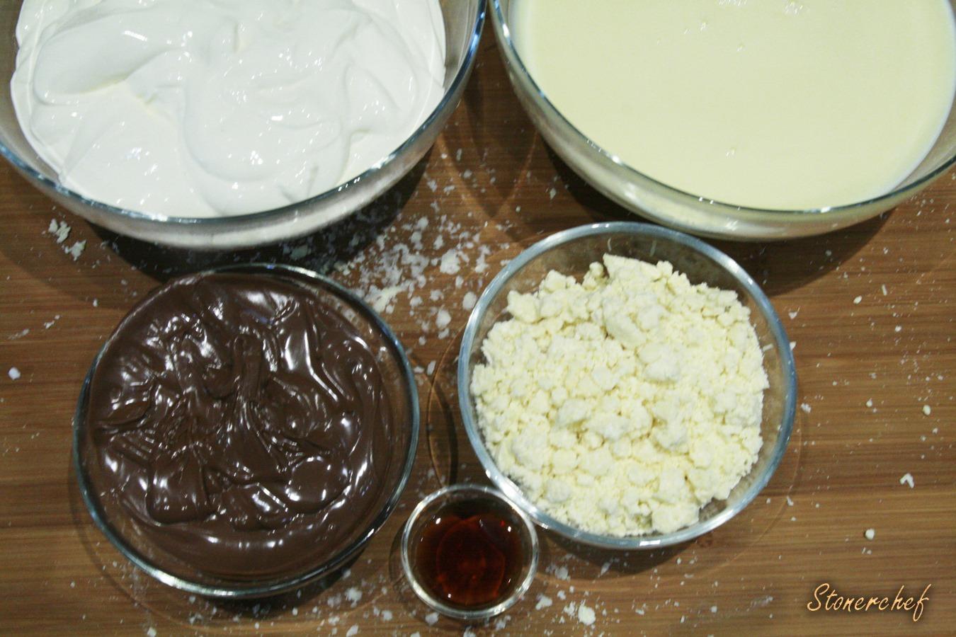 lody nutella z chrupiącą białą czekoladą