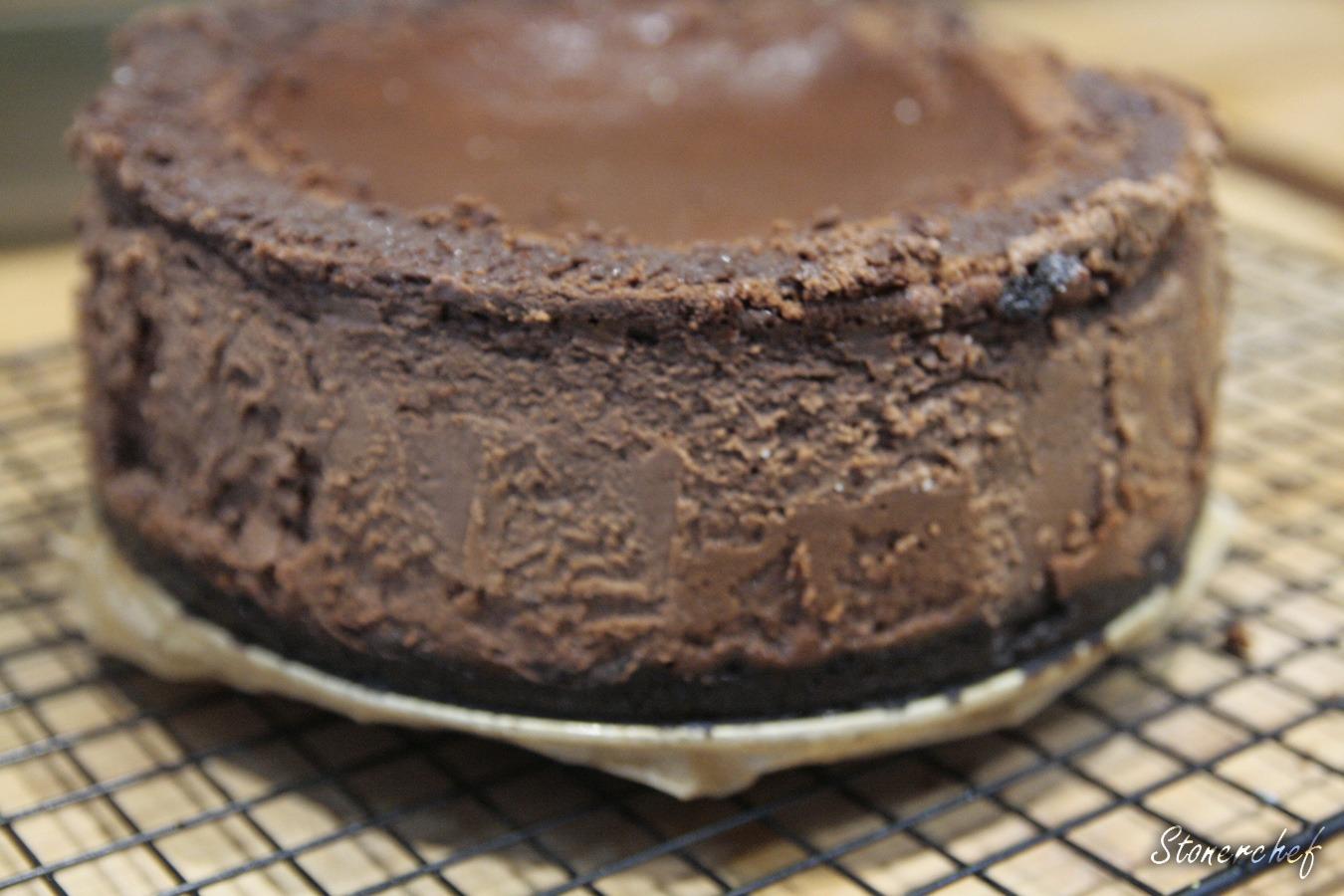 goły potrójnie czekoladowy sernik oreo bez polewy