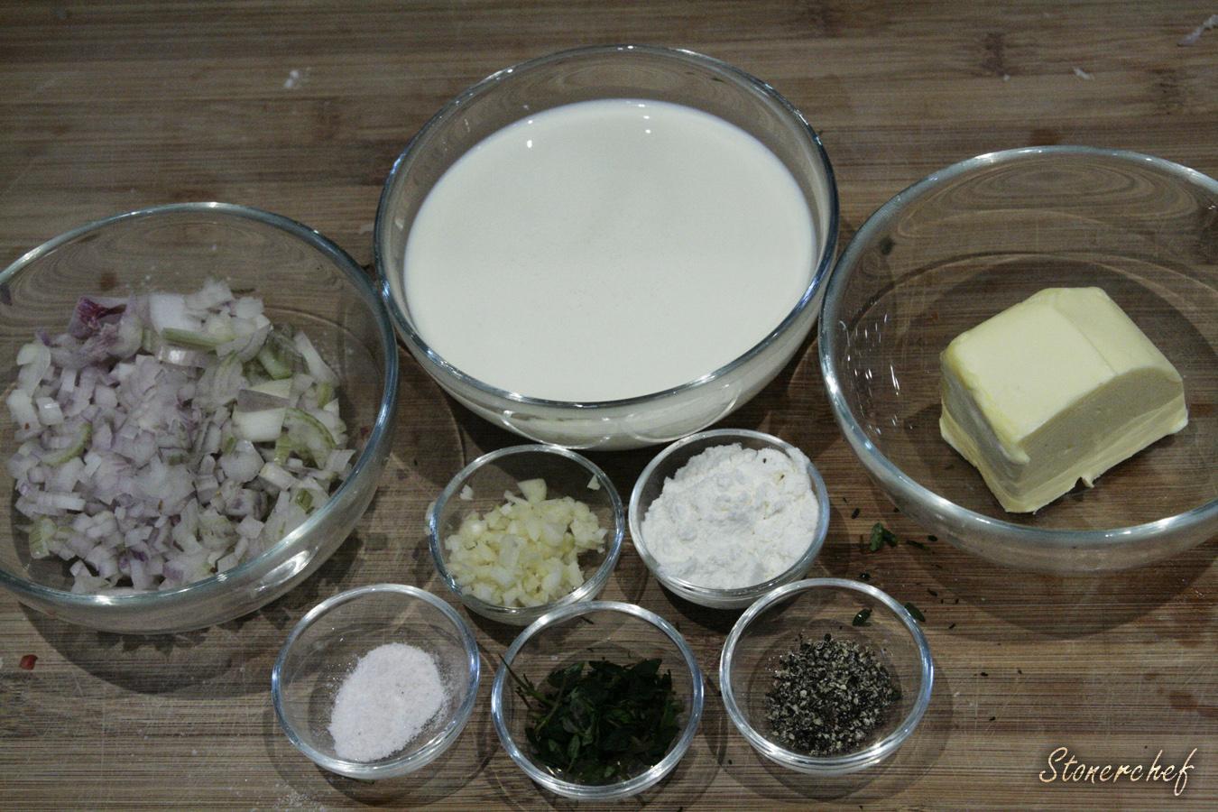 biały sos do pizzy z tymiankiem