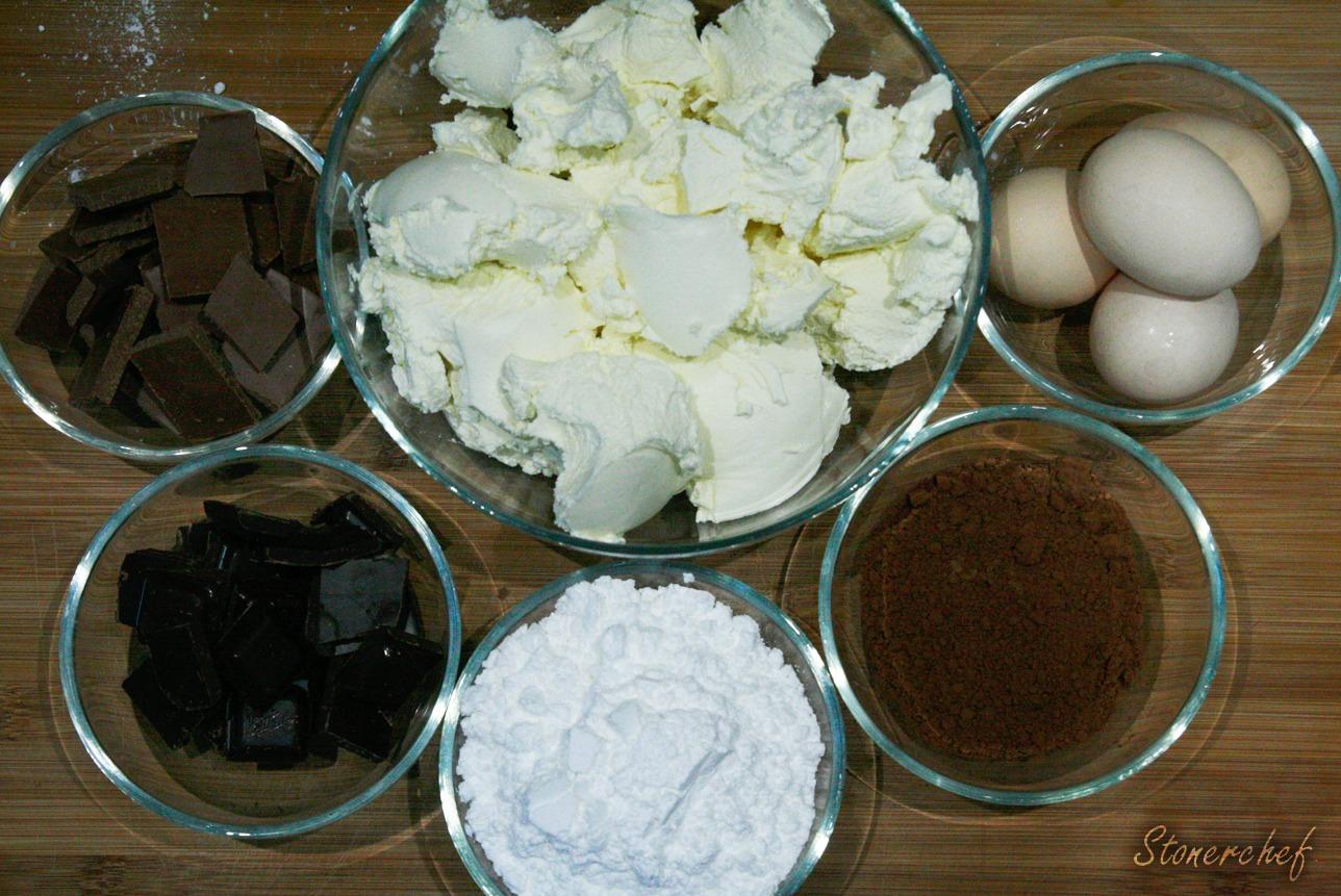 składniki na masę sernikową Oreo