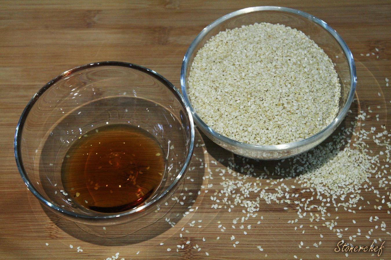 składniki na pastę tahini