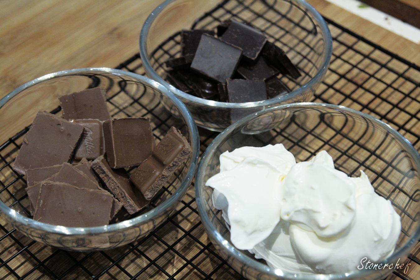 składniki na polewę czekoladową