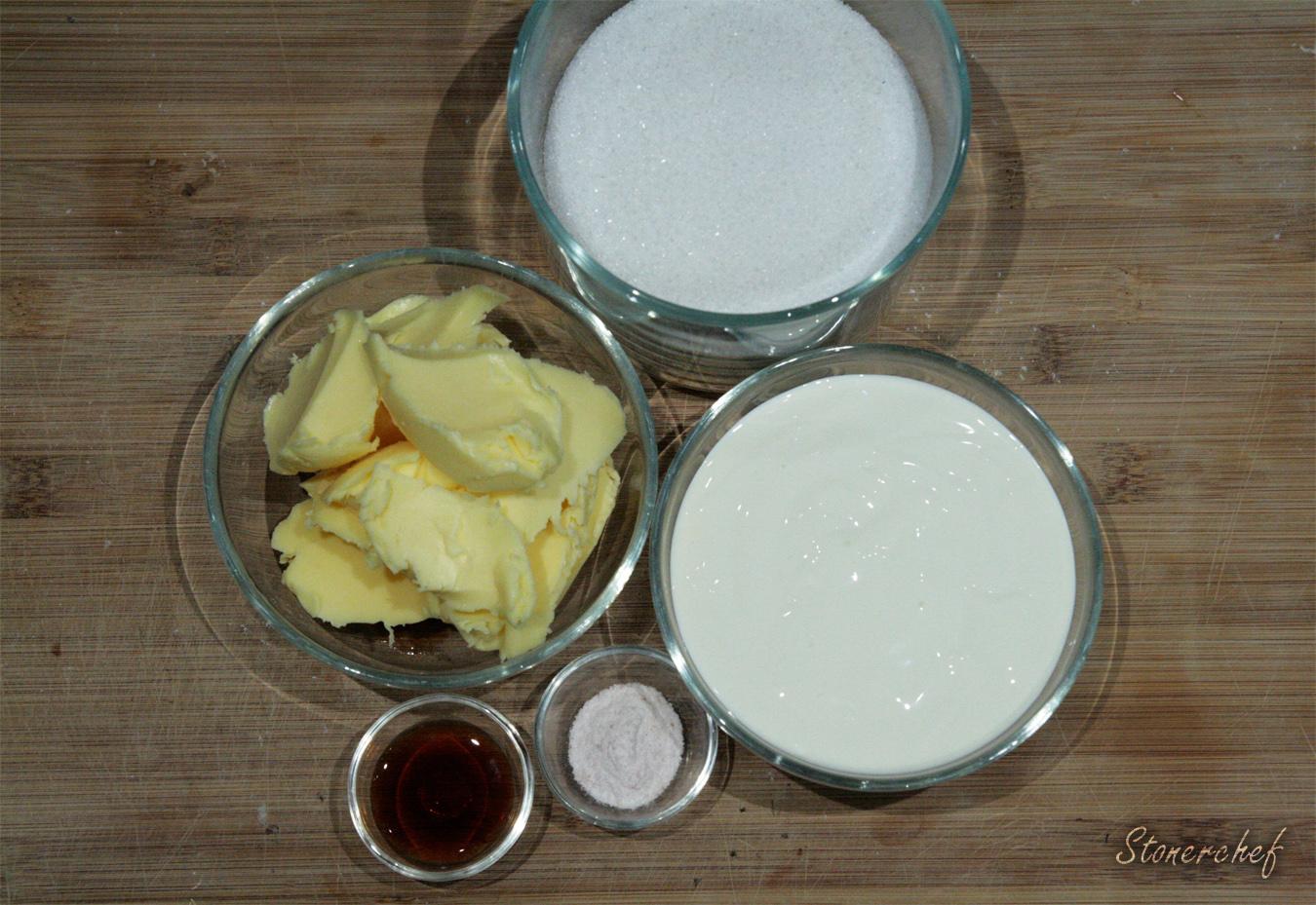 składniki na solony sos karmelowy