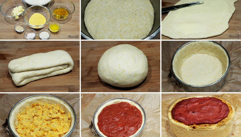 ciasto na pizzę deep dish