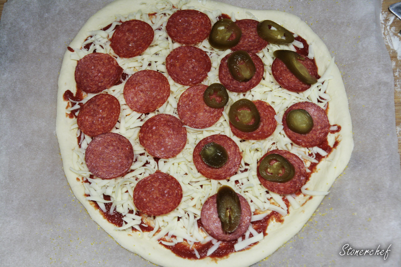 pizza na cieście w nowojorskim stylu