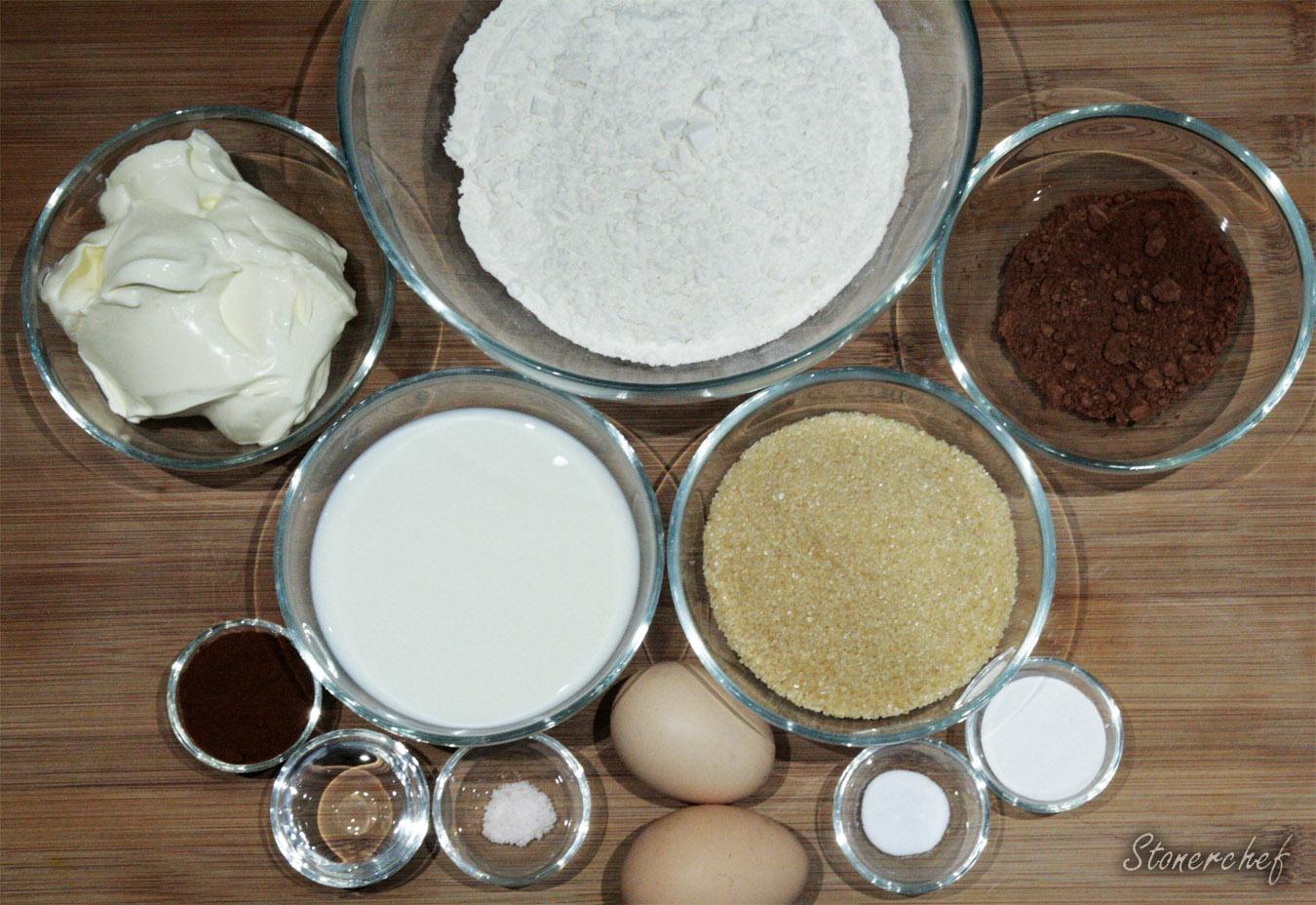 składniki na chleb tiramisu