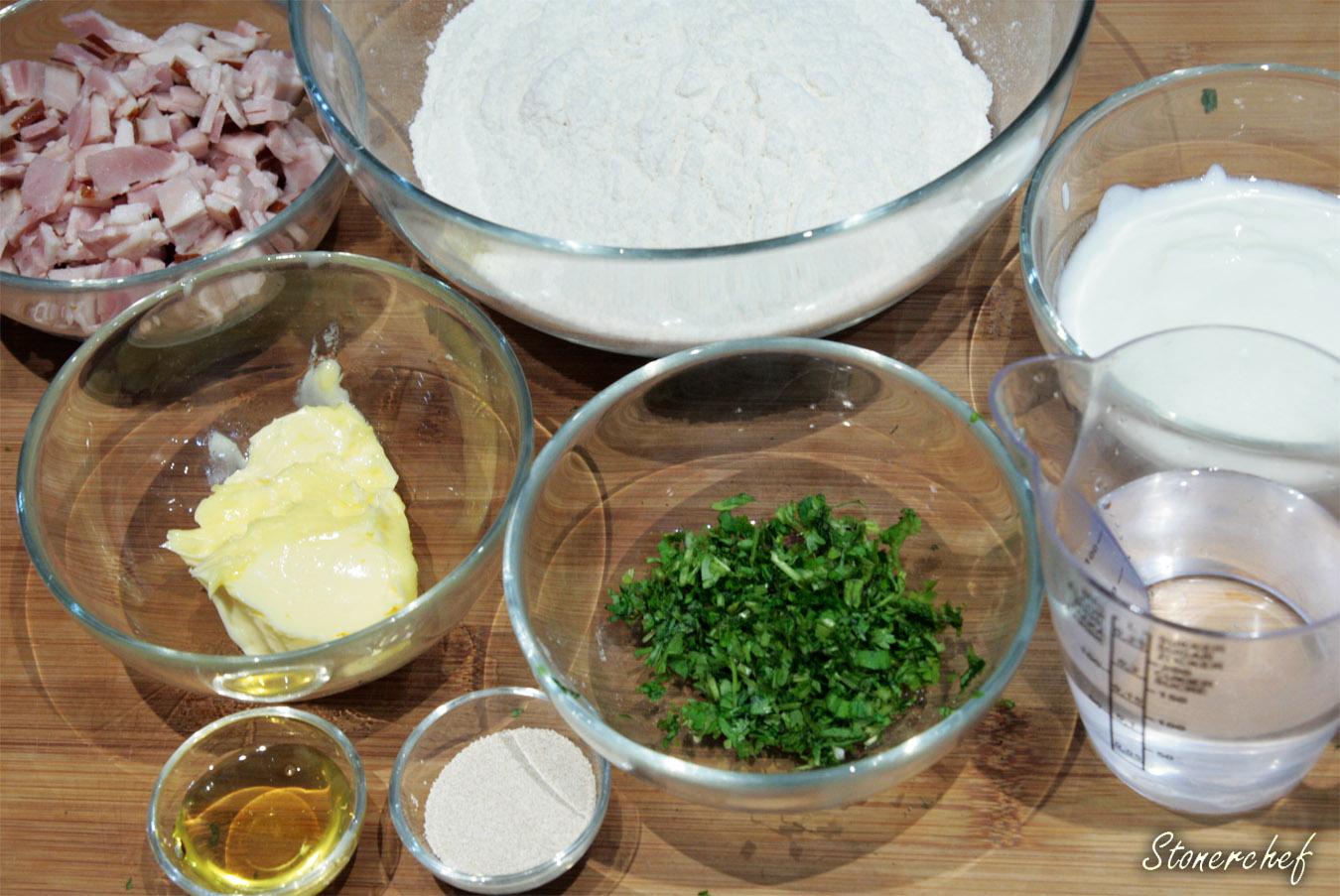 składniki na chlebki naan
