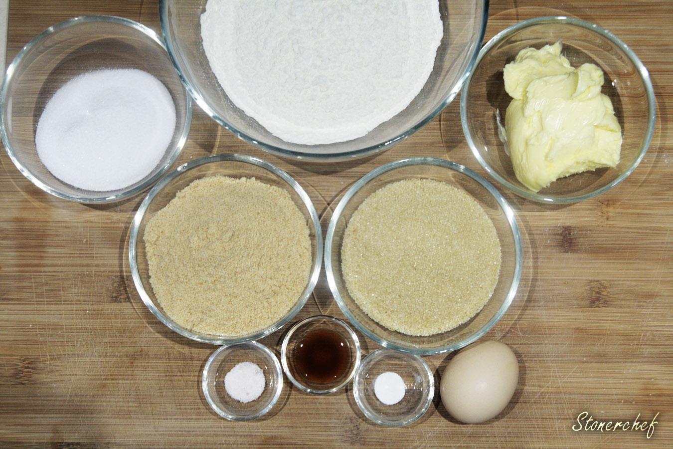 składniki na ciasteczkowe babeczki