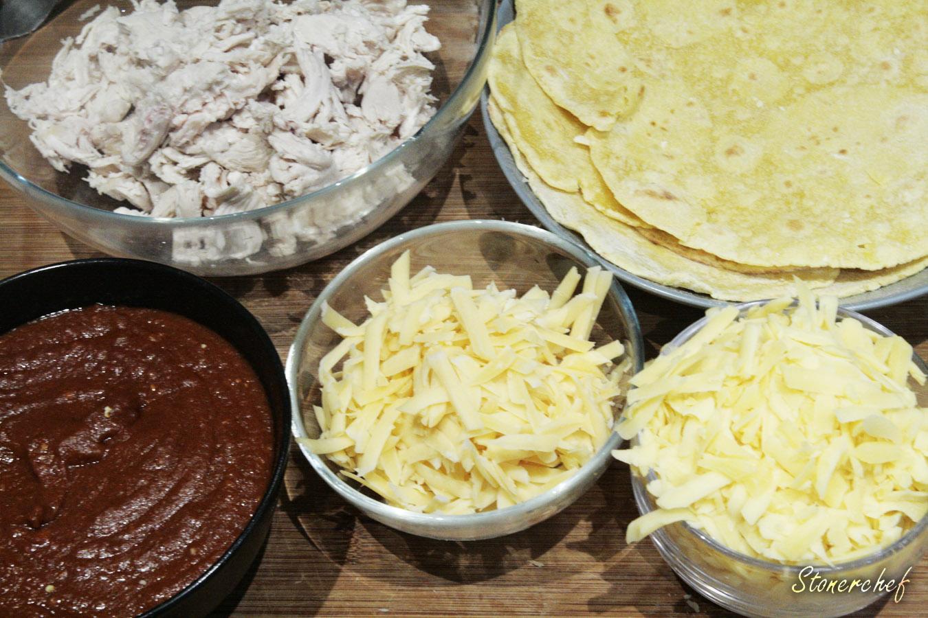 skladniki na enchiladas z kurczakiem