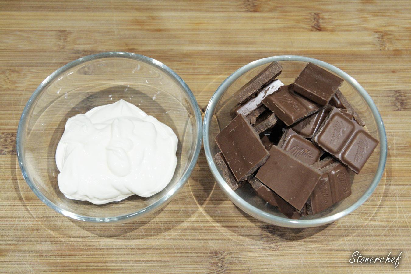 składniki na krem czekoladowy