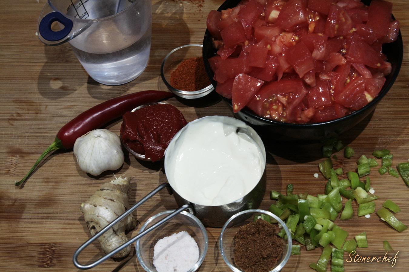 składniki na sos tikka masala