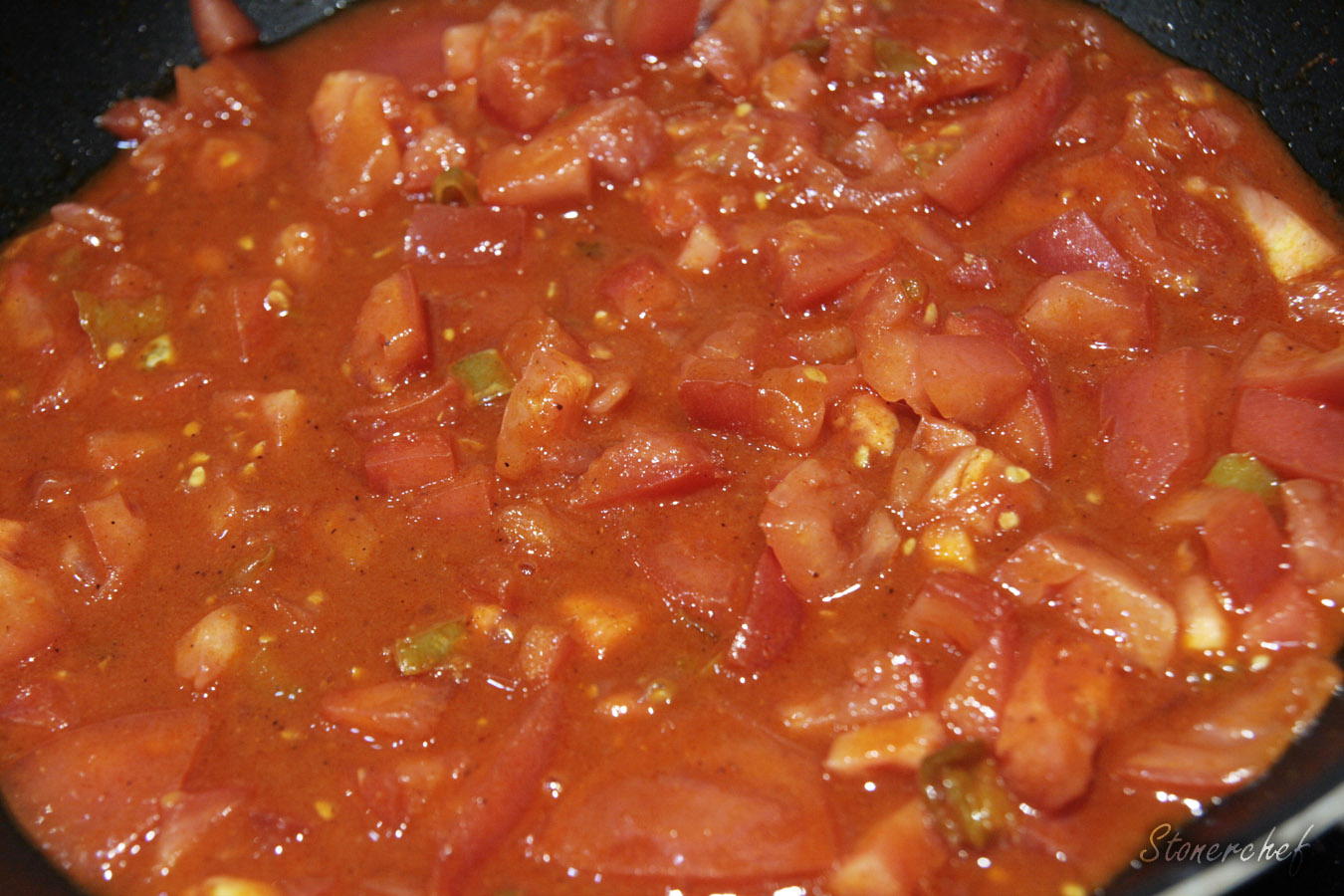 sos tikka masala przed zagotowaniem