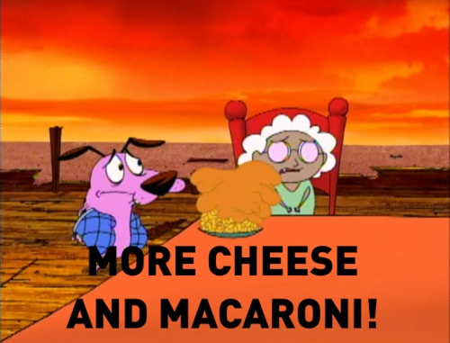 wiecej sera i makaronu