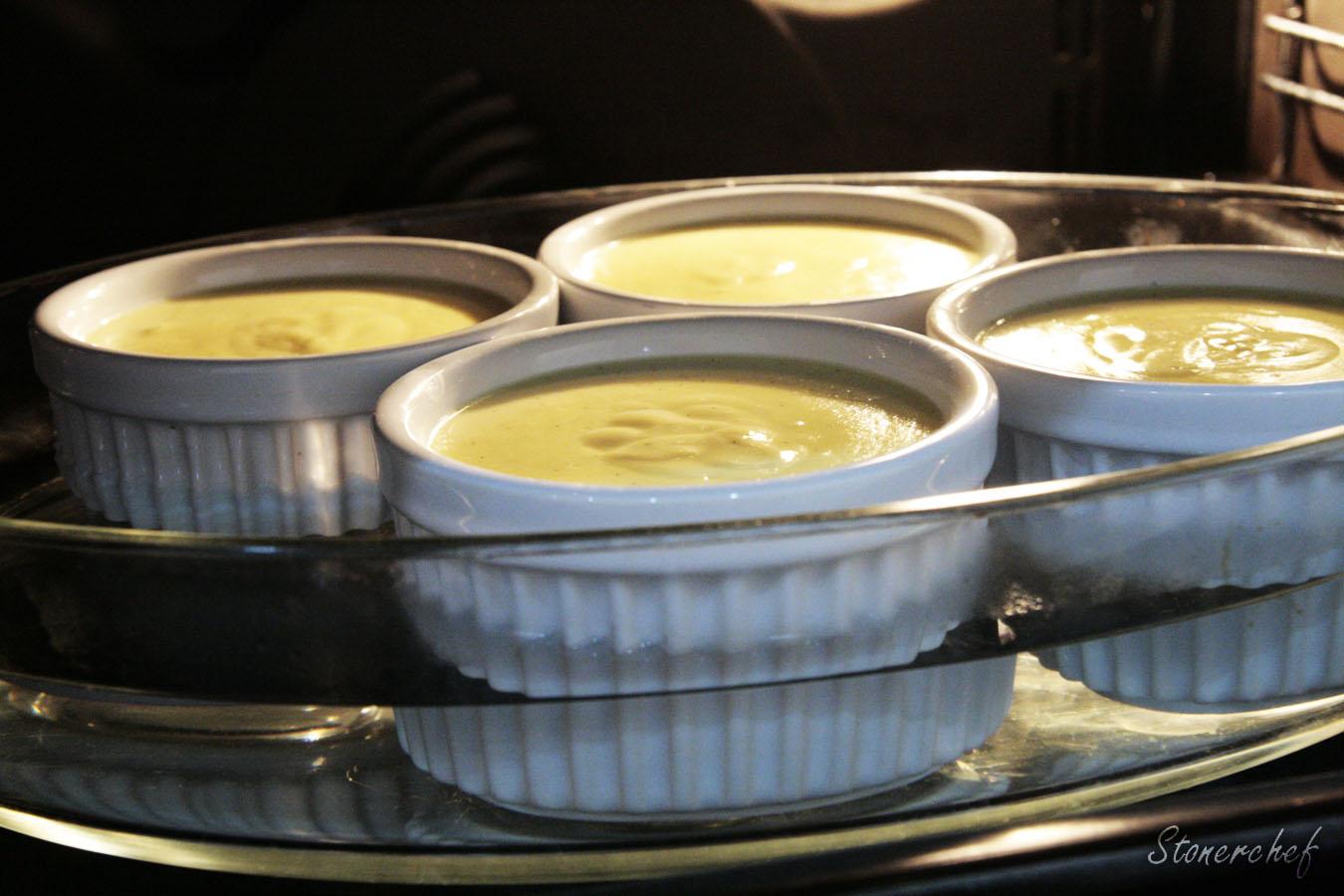 creme brulee wkładany do piekarnika