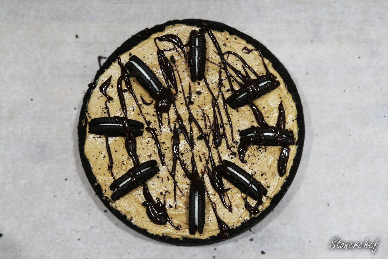 sernikowa tarta z masłem orzechowym