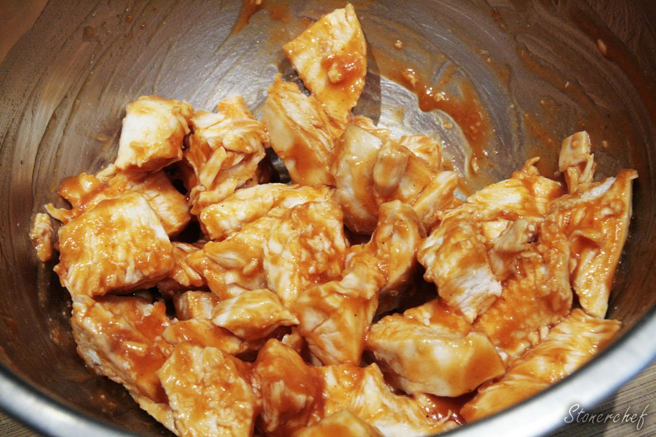 kawałki kurczaka w sosie buffalo
