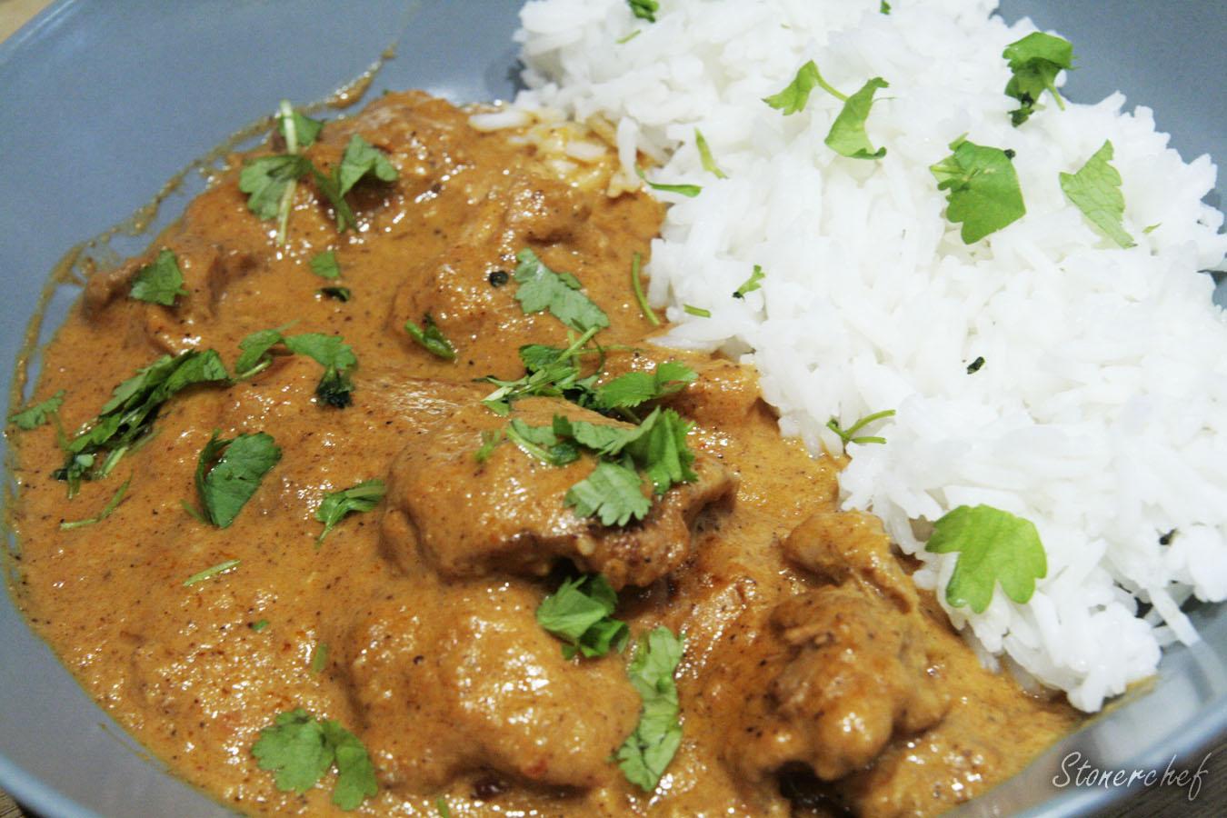 maślane curry z kurczakiem