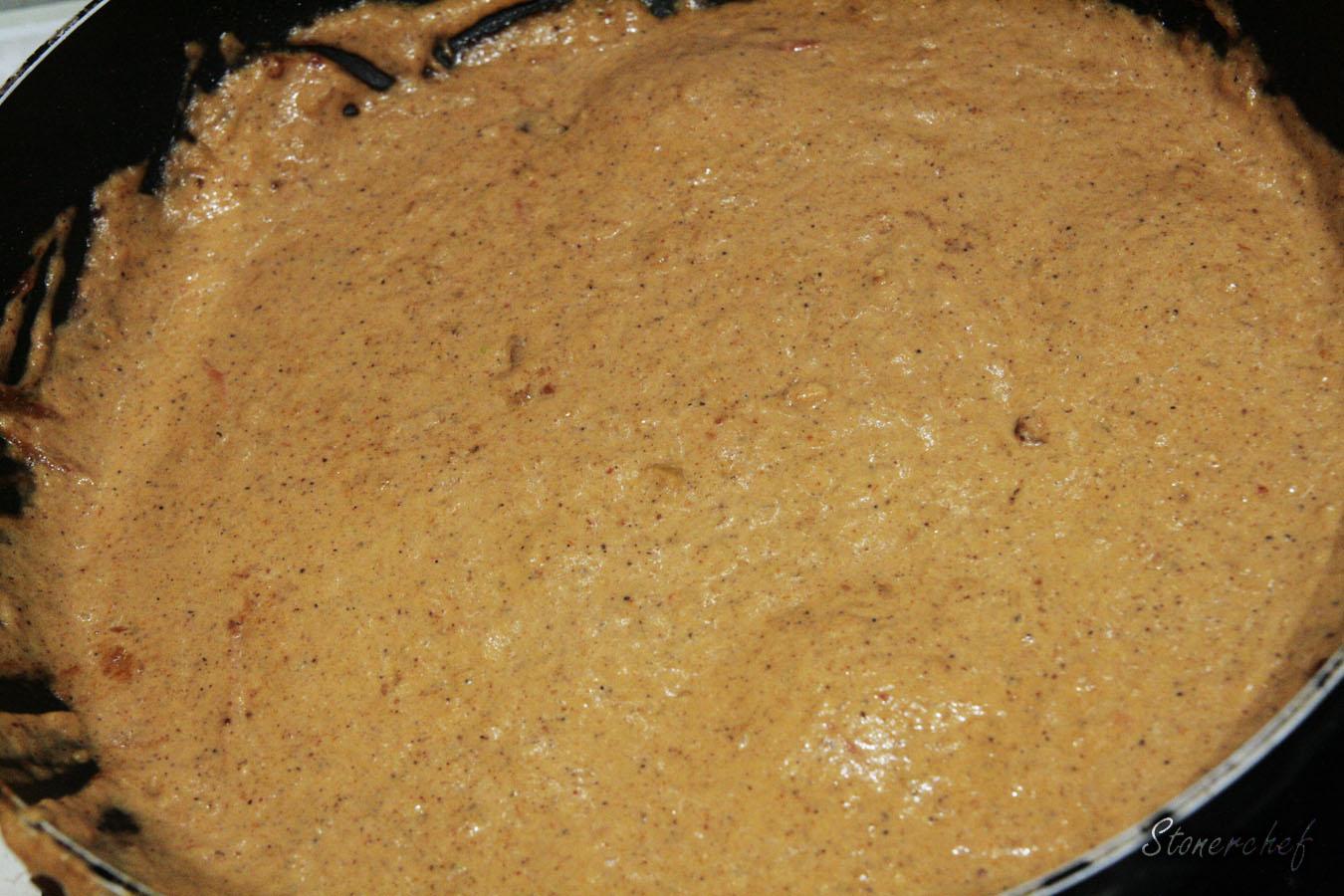 maślane curry zblendowane ze śmietaną