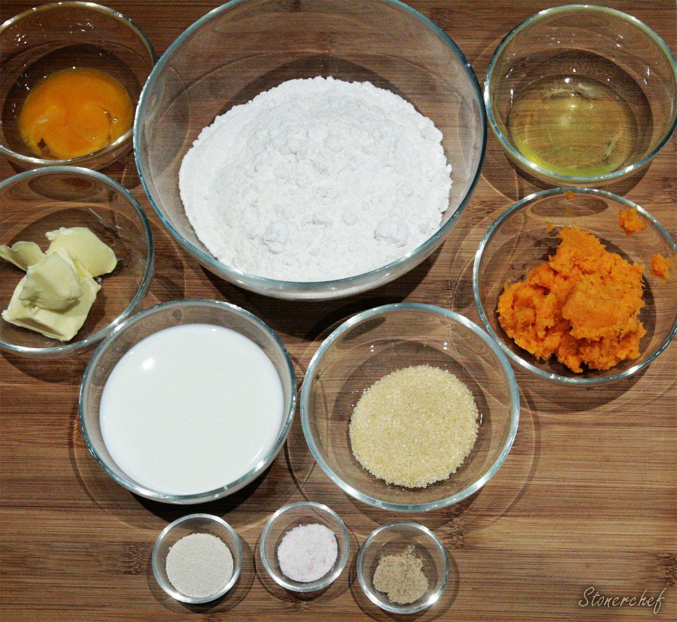 składniki na bułki batatowe