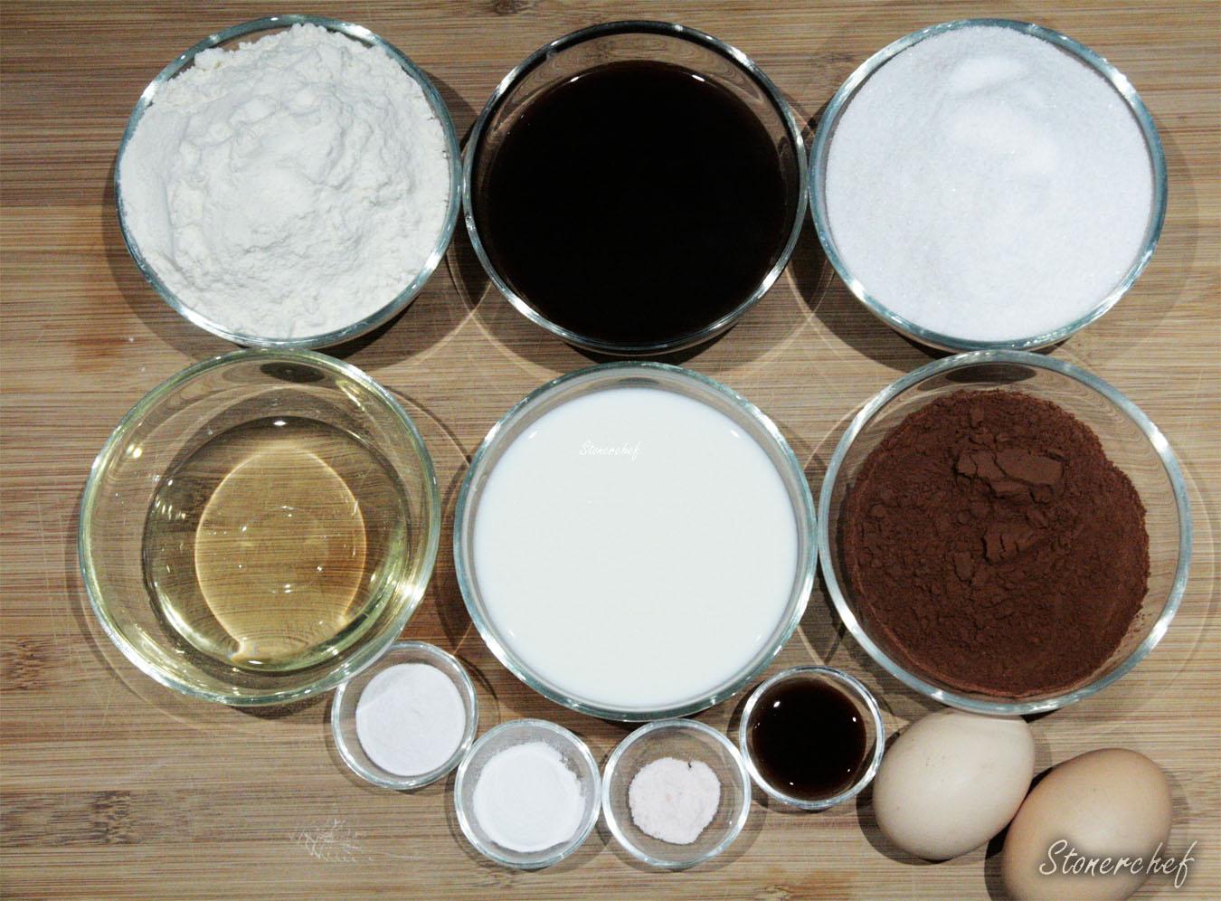 składniki na ciasto do tortu mocha