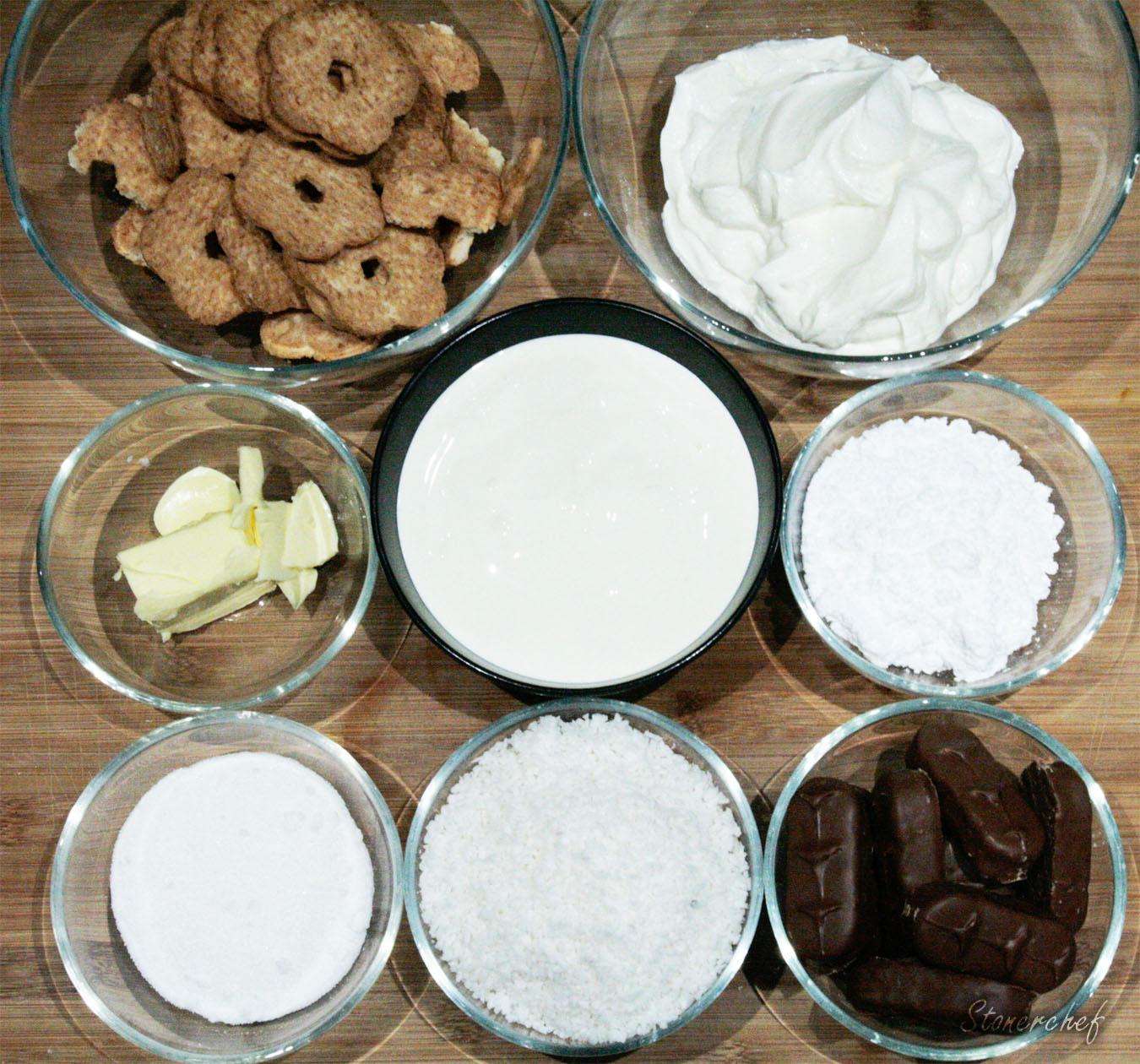 składniki na sernik bounty