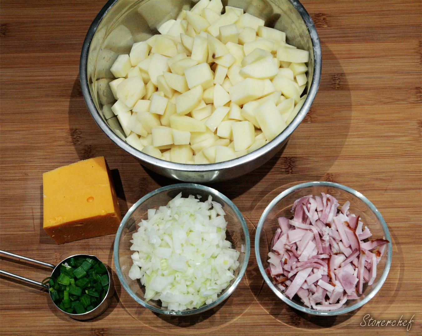 składniki na zupę ziemniaczano-serową