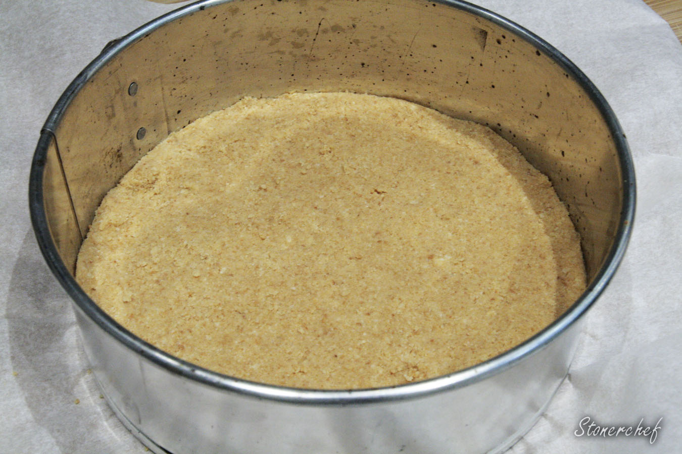 spód sernika Bounty w formie do pieczenia