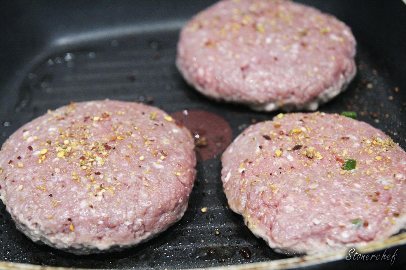 burgery na patelni grillowej
