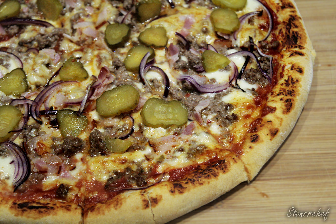 cheeseburgerowa pizza