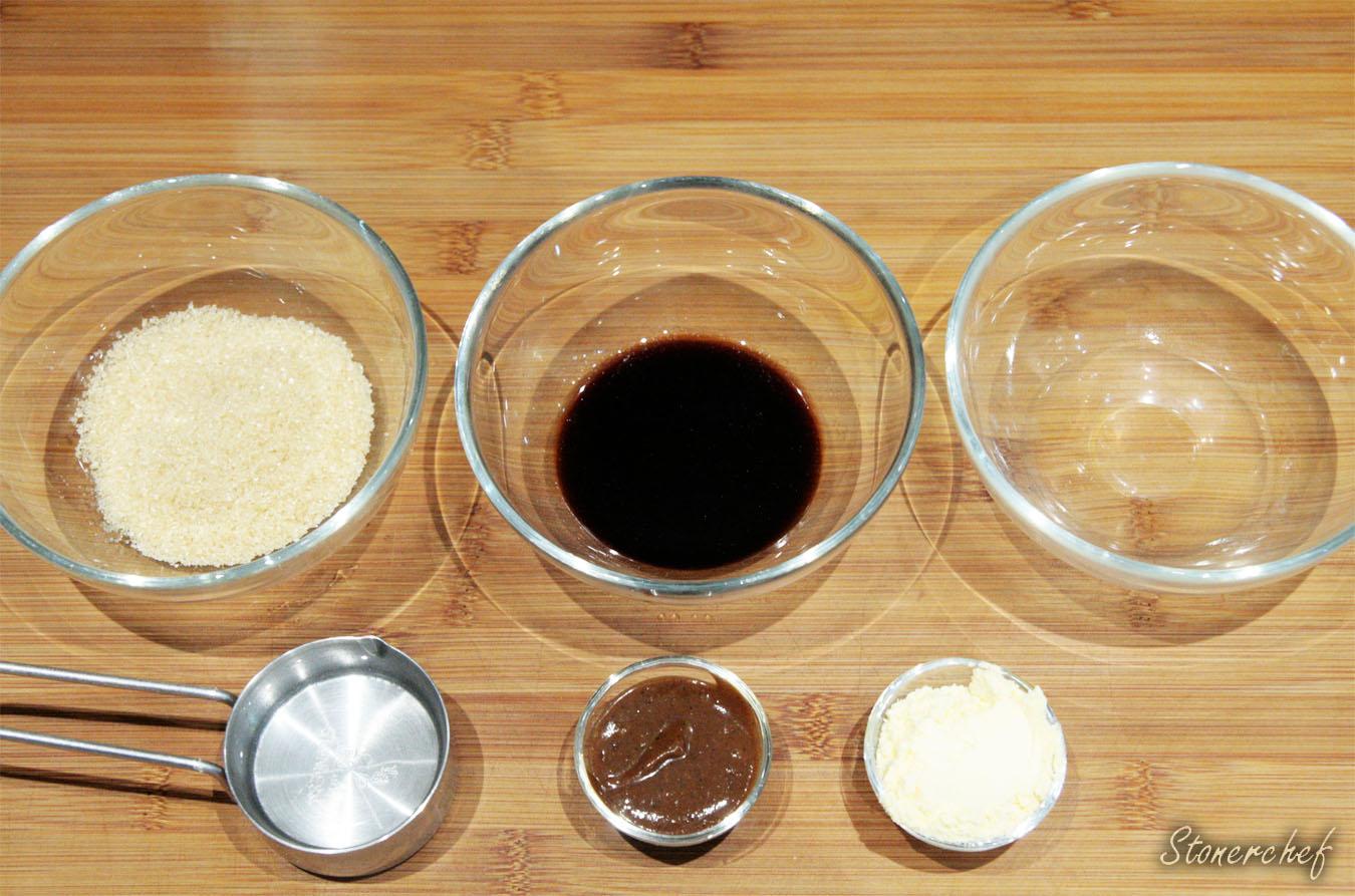 składniki na glazurę