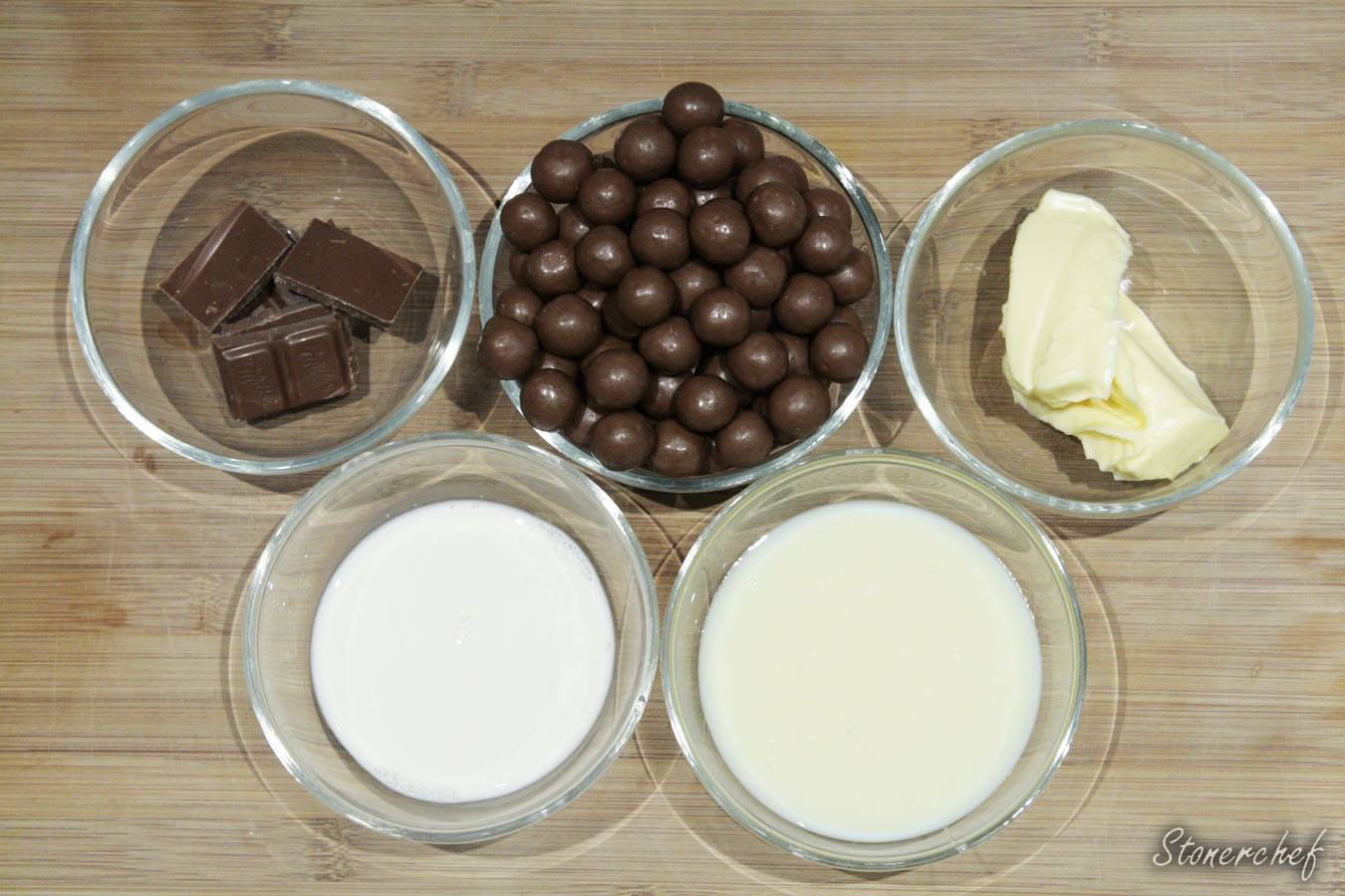 składniki na krem maltesers