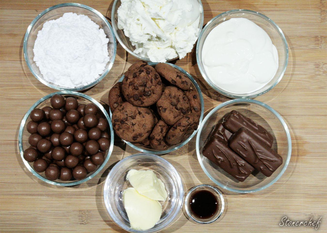 składniki na sernik mars maltesers