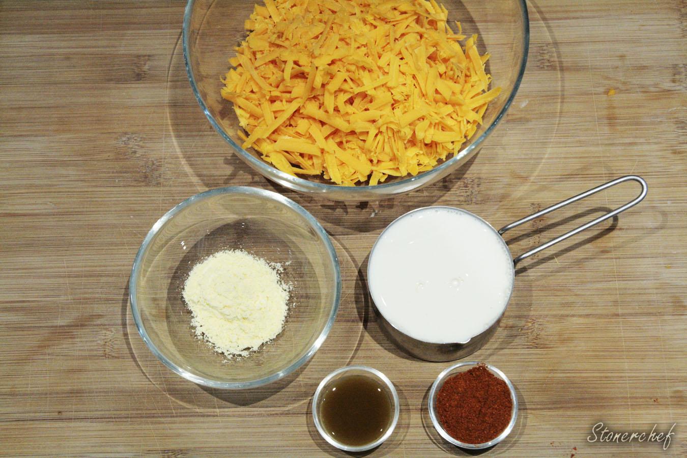 składniki na sos cheddarowy
