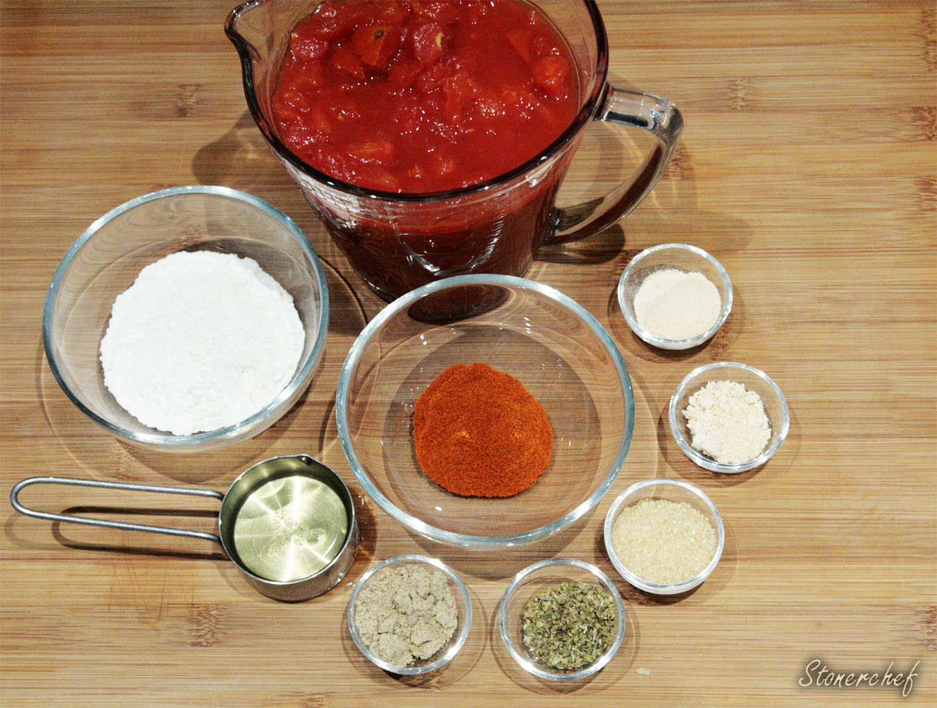 składniki na sos enchilada