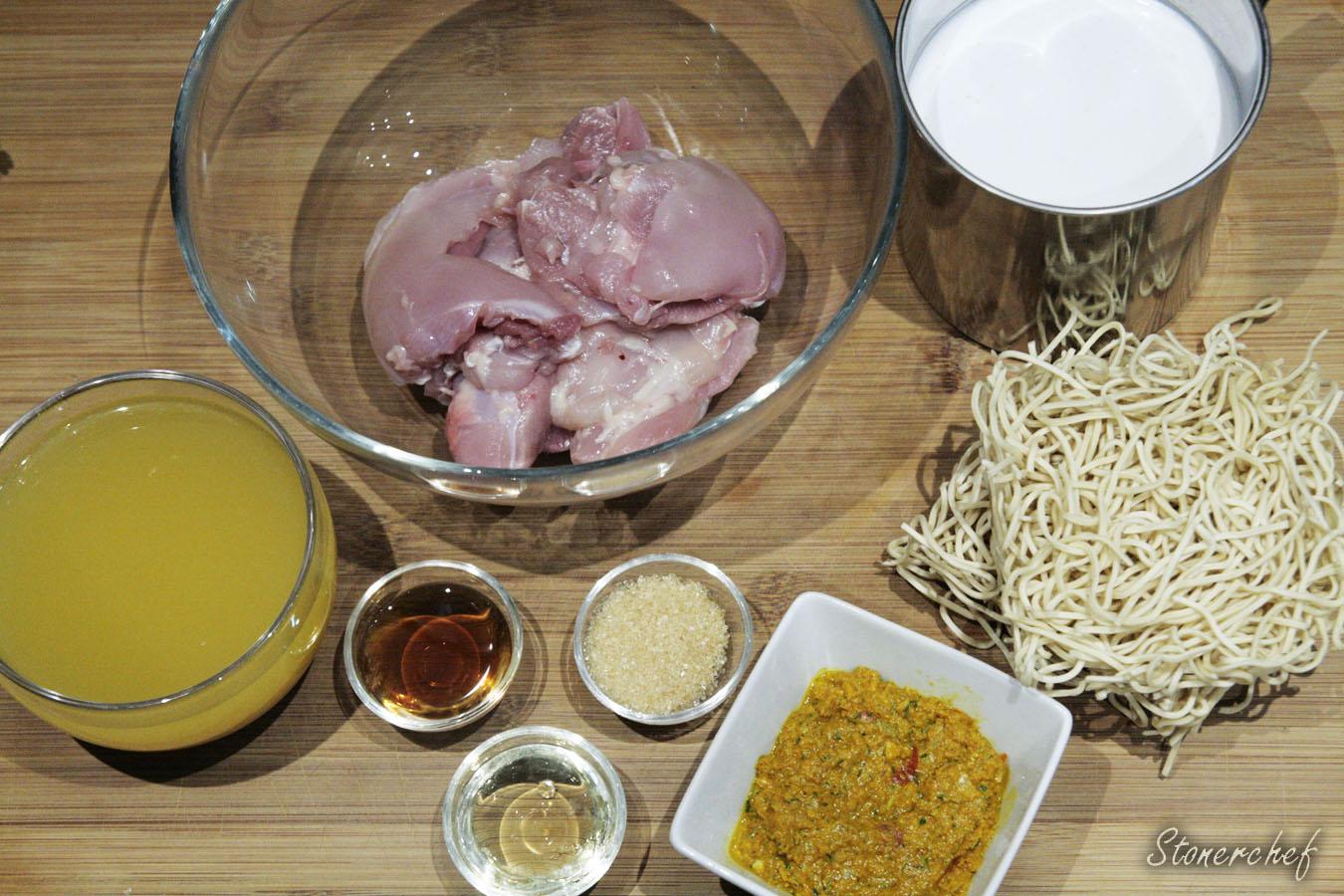 składniki na tajską zupę