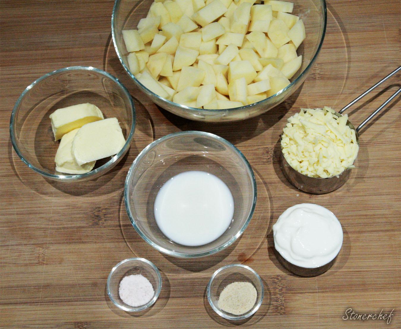 składniki na zapiekankę z puree