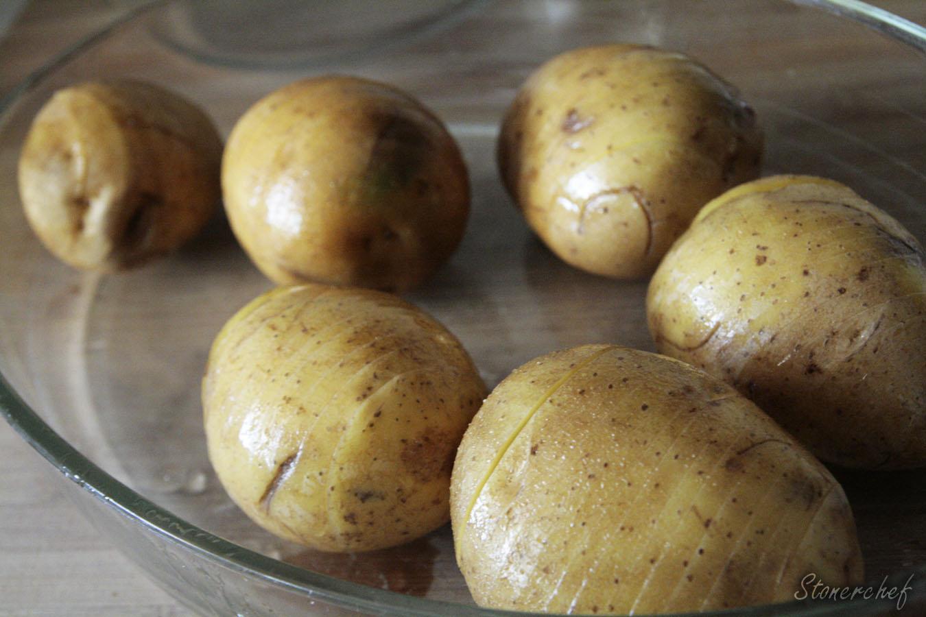 ziemniaki przed pierwszym pieczeniem