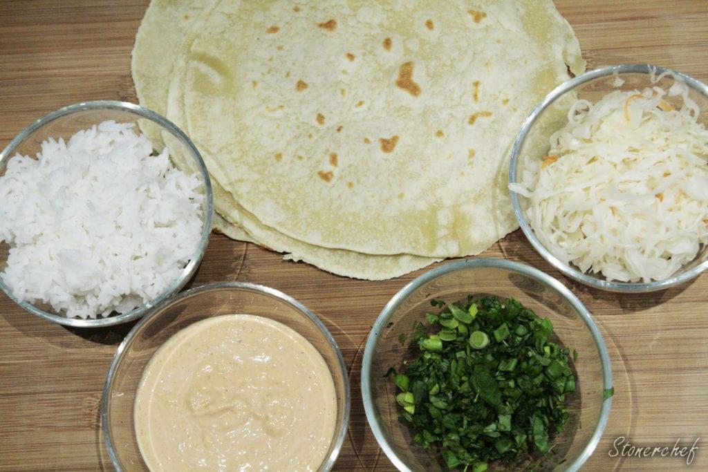 dodatki na koreańskie burrito