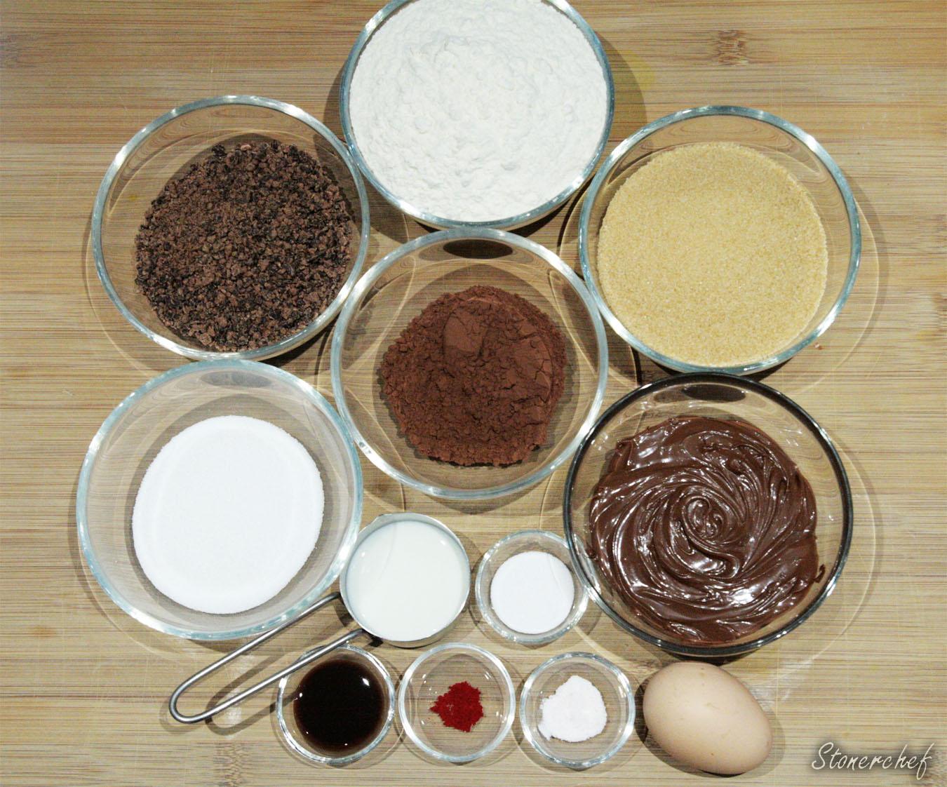 składniki na ciastka red velvet