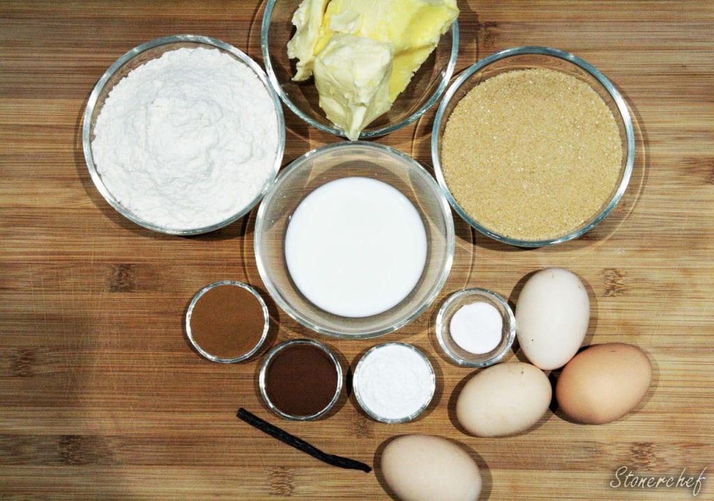 składniki na ciasto do tortu