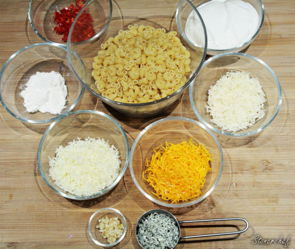 składniki na mac and cheese cztery sery