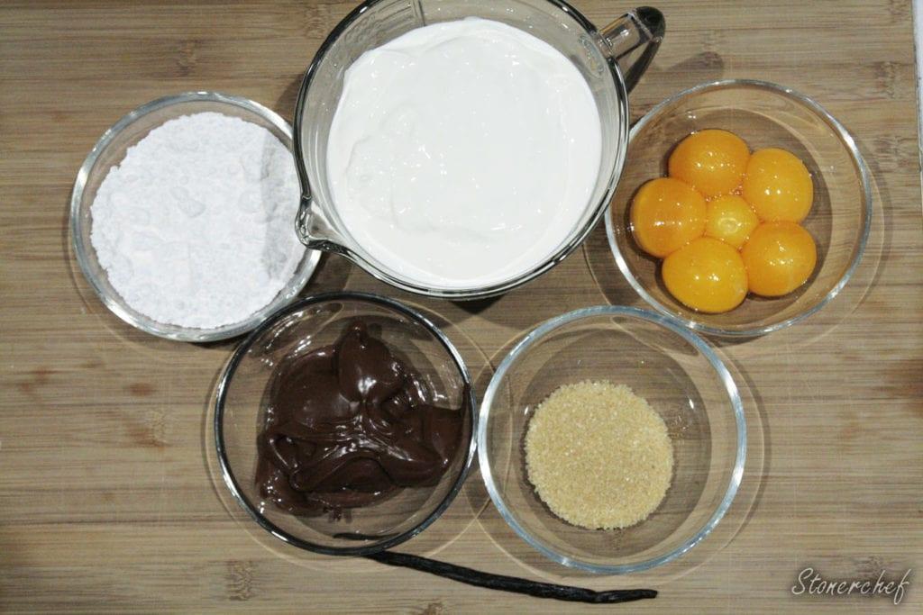 składniki na Nutella Crème brûlée