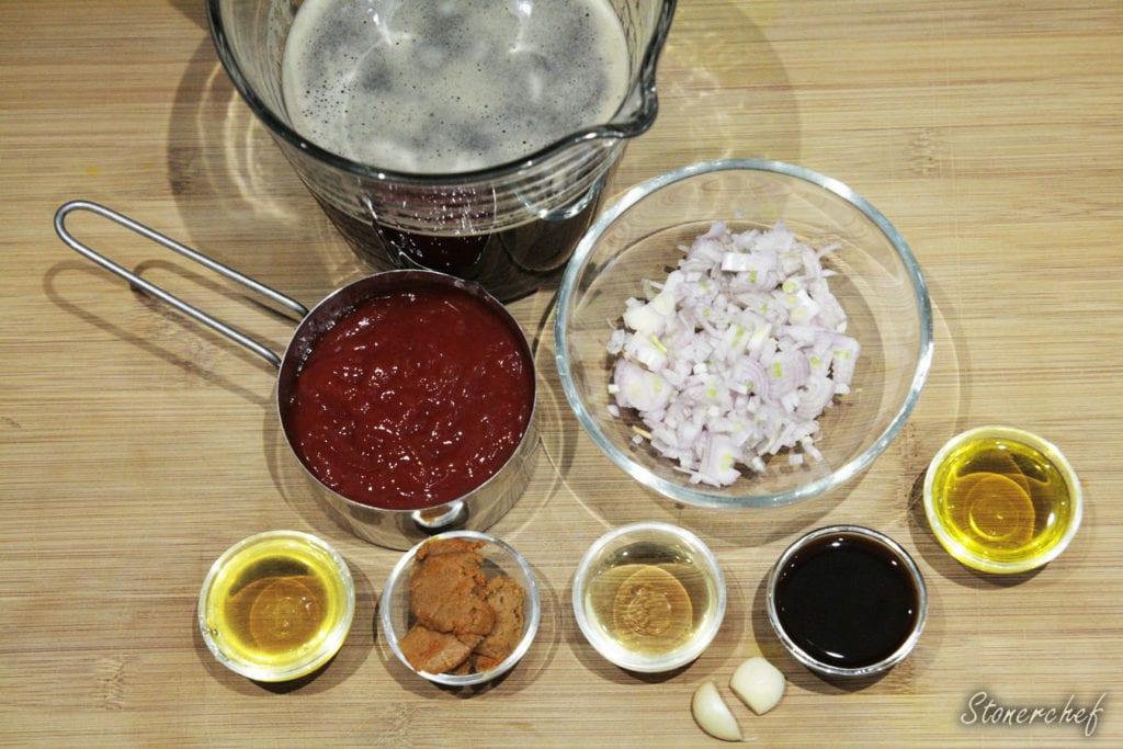składniki na sos do żeberek