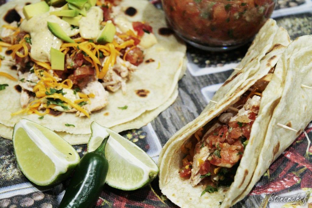 tacos z szarpanym kurczakiem