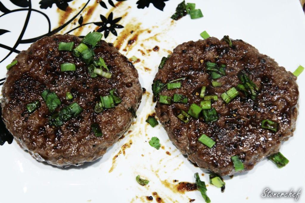 burgery w sosie teriyaki i szczypiorku