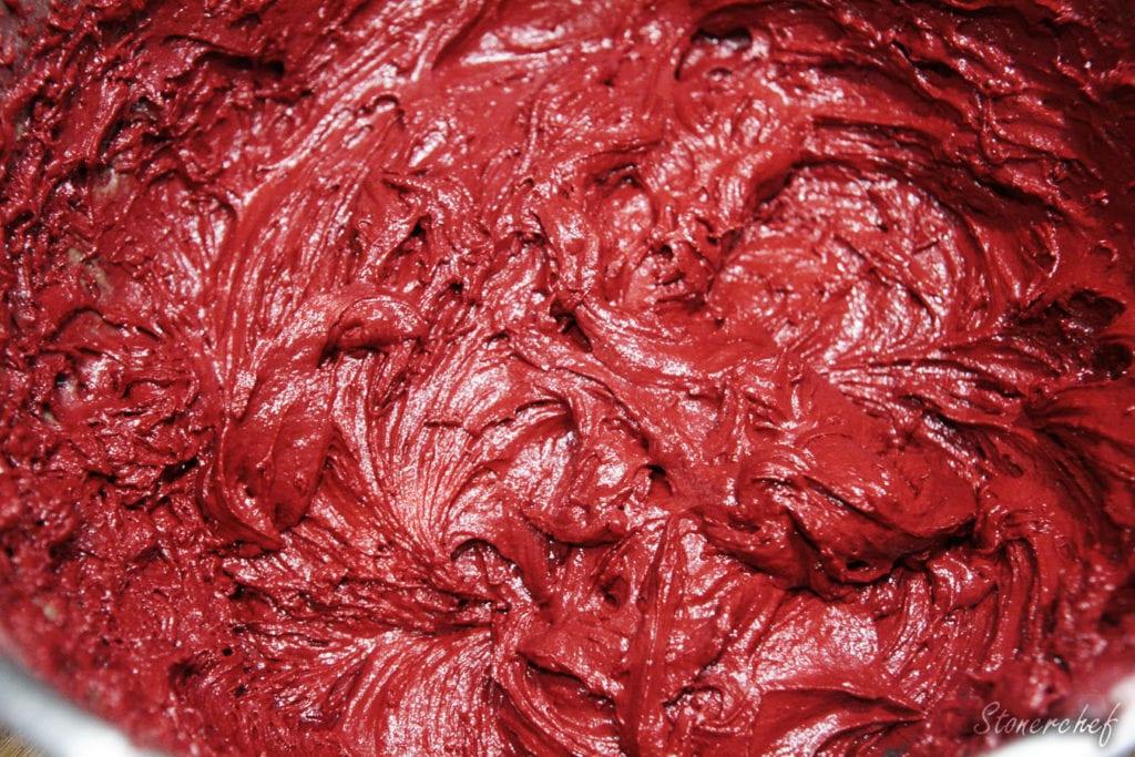 masa na ciastka red velvet whoopie pies