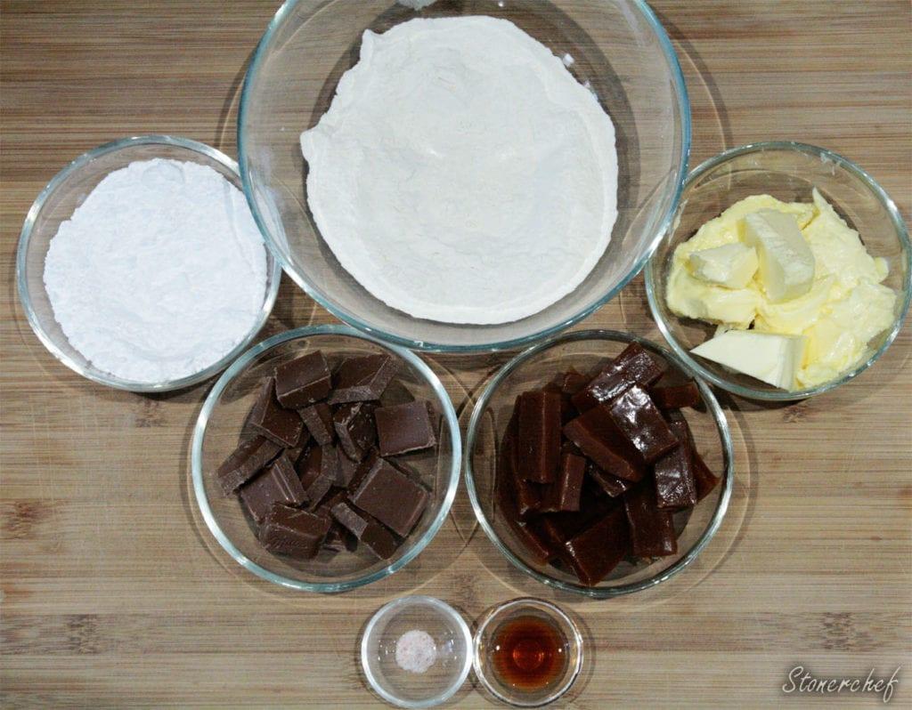 składniki na ciasteczka twix