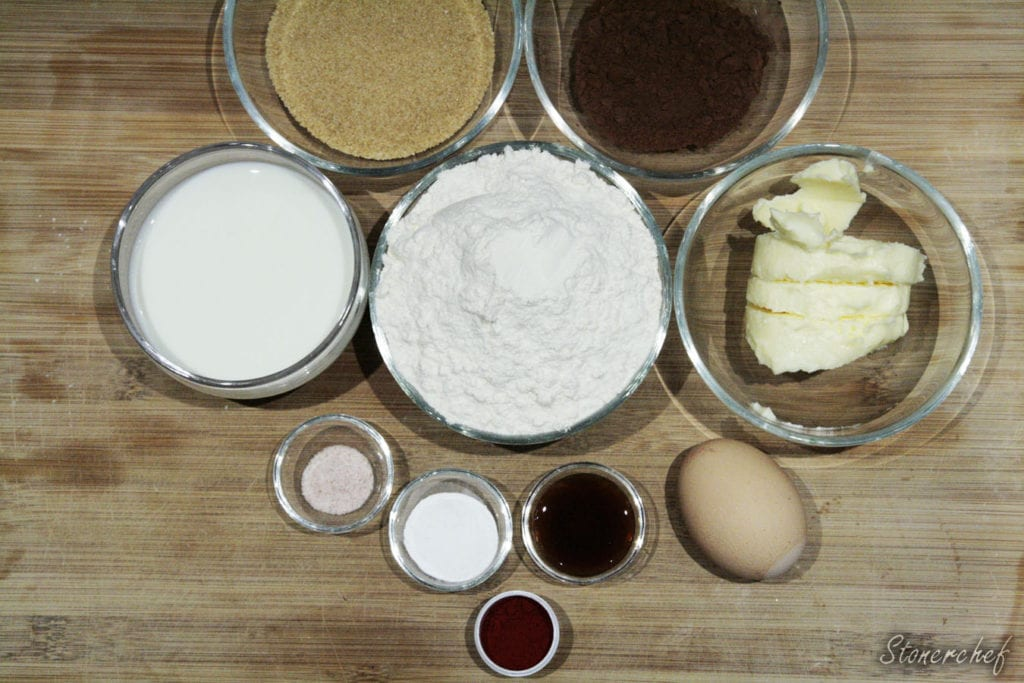 składniki na ciastka red velvet whoopie pies